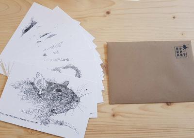 12 cartes postales des animaux du zodiaque chinois